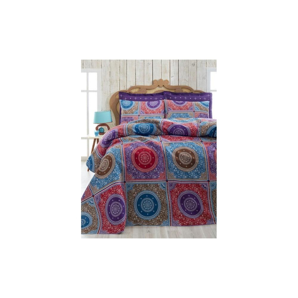 Lehký přehoz přes postel Ornament Purple, 200 x 235 cm