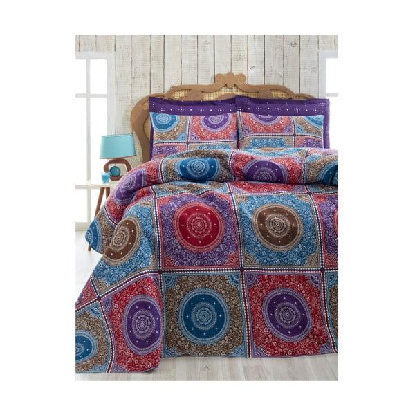 Cuvertură subțire pentru pat dublu Ornament Purple, 200 x 235 cm