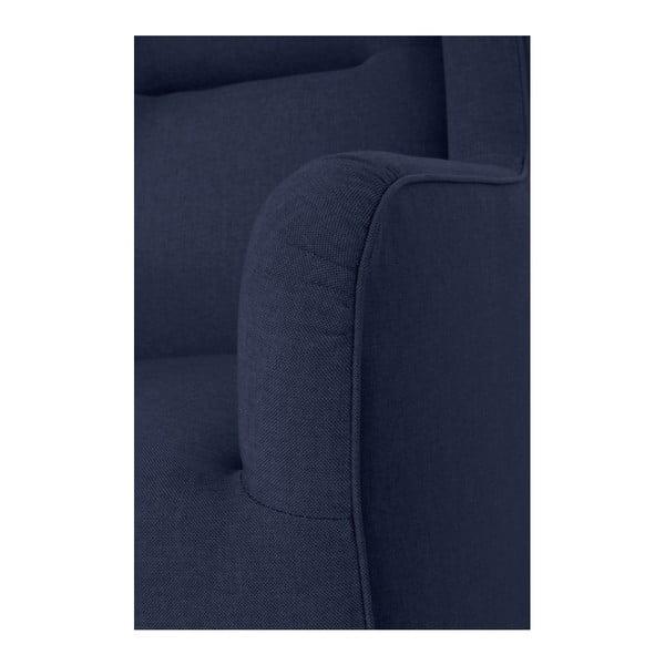 Tmavě modré křeslo ušák Max Winzer Bruno