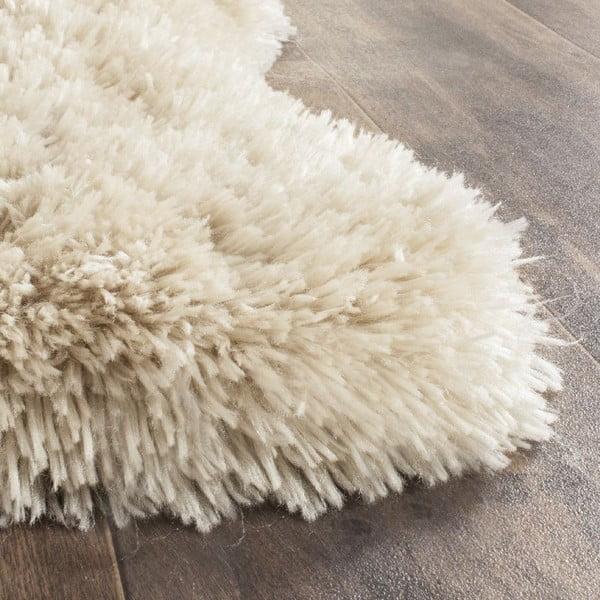 Bílá umělá kožešina Tegan, 91x152cm