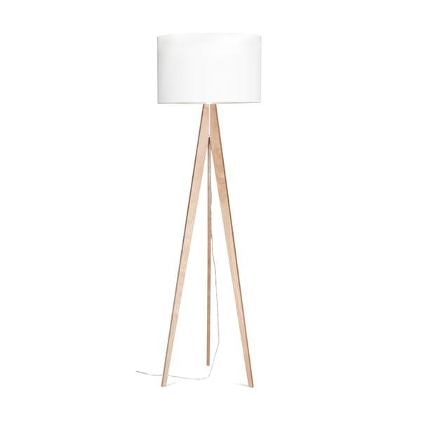Stojací lampa 4room Artist White/Birch, 125x42 cm