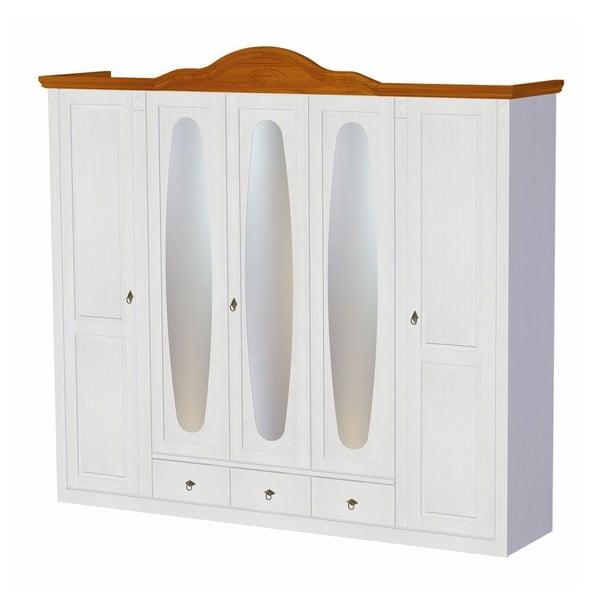 Šatní skříň Mmi White, 255x60x232 cm