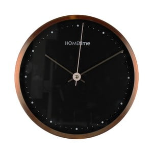 Černoměděné nástěnné hodiny Hometime Copper Finish, 25 cm