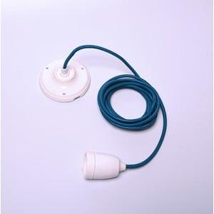 Modrý kabel pro stropní světlo s bílou objímkou Filament Style Diamond
