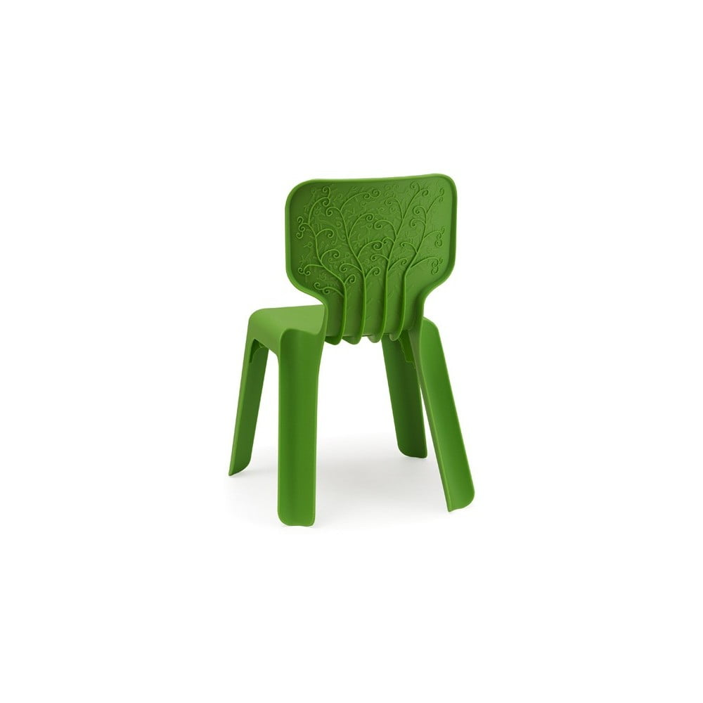 Dětská zelená stohovatelná židle Magis Alma