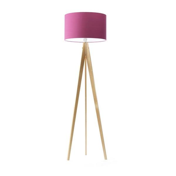 Fialová stojací lampa Artist, bříza, 150 cm
