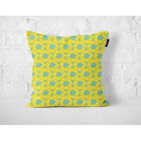 Pošltář Yellow Floralis, 40x40 cm