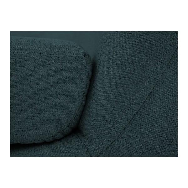 Tmavě modré křeslo s hnědými nohami Mazzini Sofas Piemont