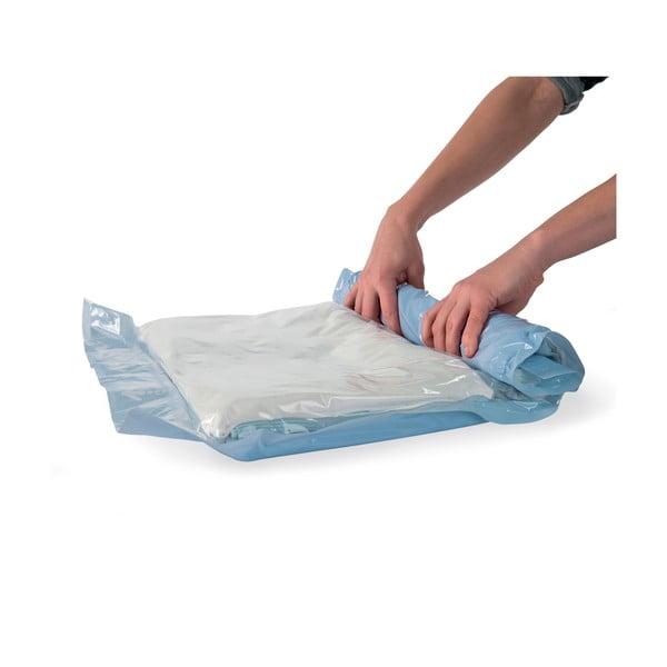 Sada 12 zrolovateľných vakuových úložných obalov na oblečenie Compactor Roll Up Vacuum Bags, 50 x 35 cm