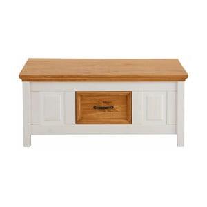 Bílý konferenční stolek z masivního borovicového dřeva Støraa Suzie