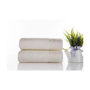 Sada 2ks ručníků Sal Ecru, 50x90 cm