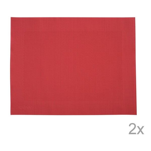 Sada 2 prostírání Saleen Red, 30x40 cm