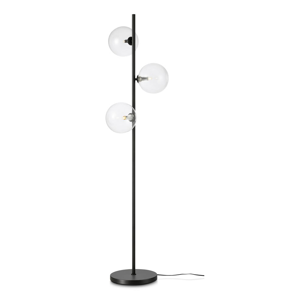 Černá volně stojící lampa Markslöjd Andrew Floor 3L