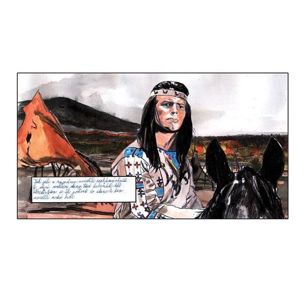 Autorský plakát od Toy Box Staré tábořiště, řekl Vinnetou, 60x98 cm