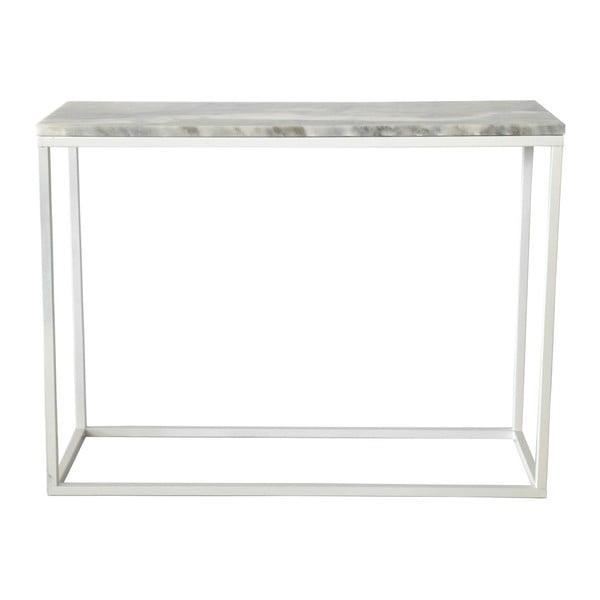 Mramorový konzolový stolek s bílou konstrukcí RGE Accent, výška75cm