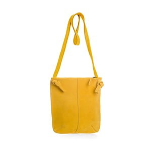 Žlutá kožená kabelka přes rameno Woox Mendica Lutea