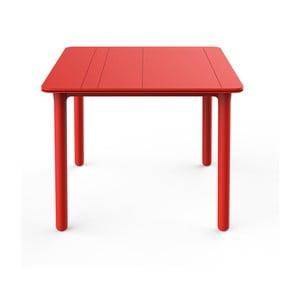 Červený zahradní stůl Resol NOA, 90x90cm