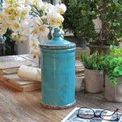 Dóza Potiche Turquoise, 13x27 cm