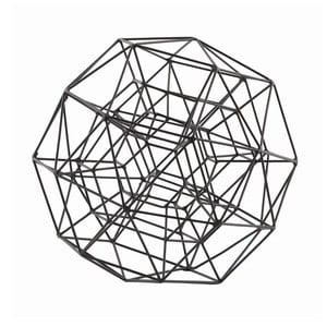Dekorace Globe Black, 21 cm