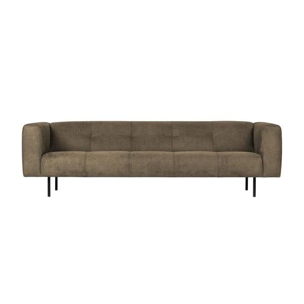 Canapea cu 4 locuri vtwonen Skin, verde olive