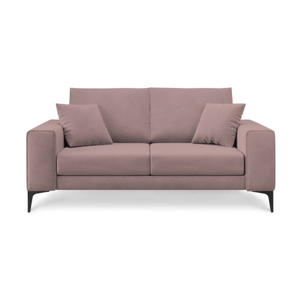 Canapea cu 2 locuri Cosmopolitan Design Lugano, roz pudră
