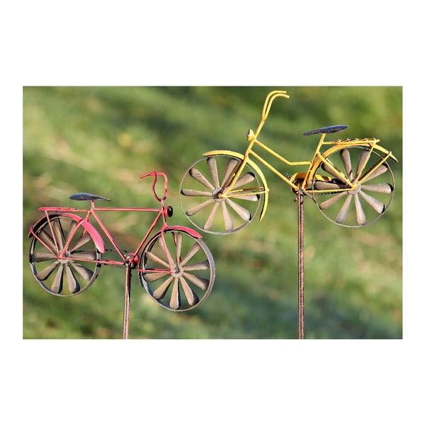 Sada 2 zahradních dekorací Bikes