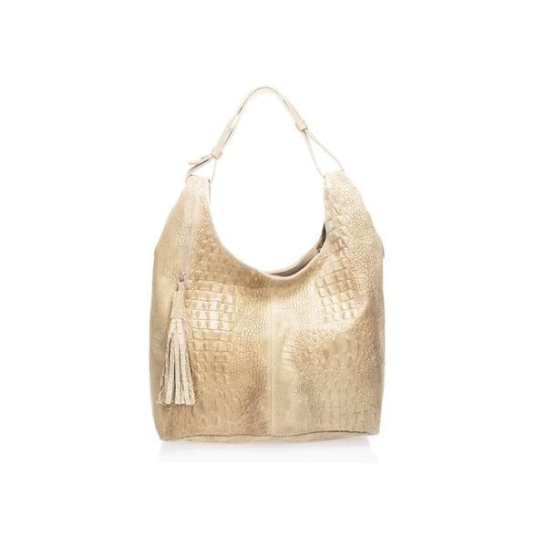 Béžová kožená kabelka Massimo Castelli Jamilyn
