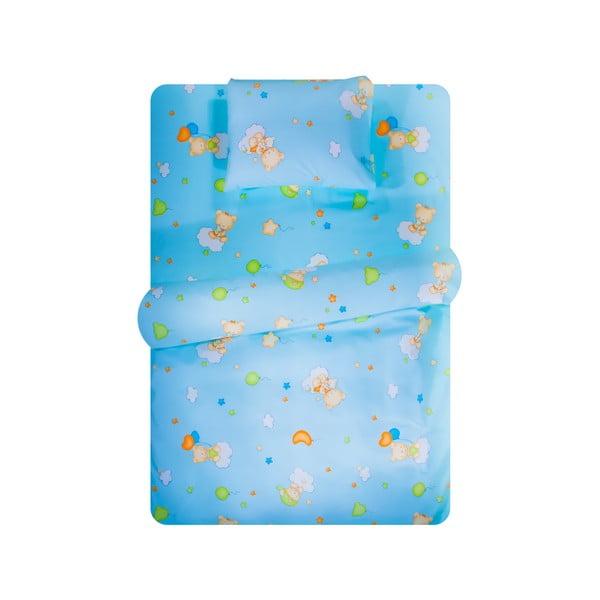 Set povlečení Home de Bleu 100x150 cm, Happy Bear Blue