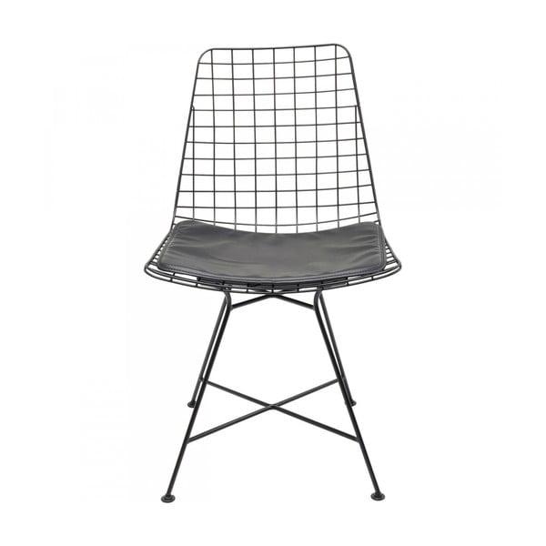Černá ocelová jídelní židle Kare Design Grid