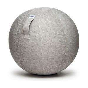 Světle šedý sedací míč VLUV Stov, Ø70- 75cm
