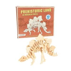 Dřevěné 3D puzzle dinosaurus Rex London Stegosaurus
