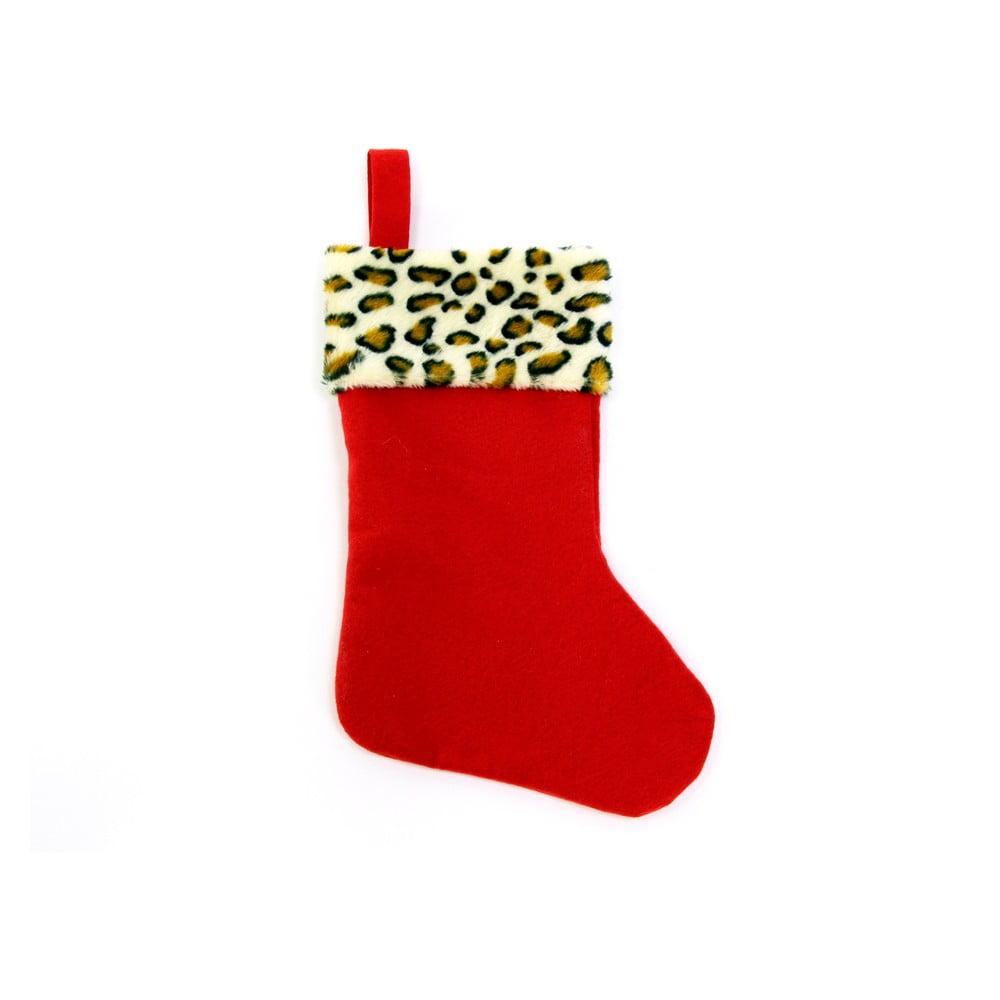 Červená vánoční dekorace ve tvaru punčochy Unimasa