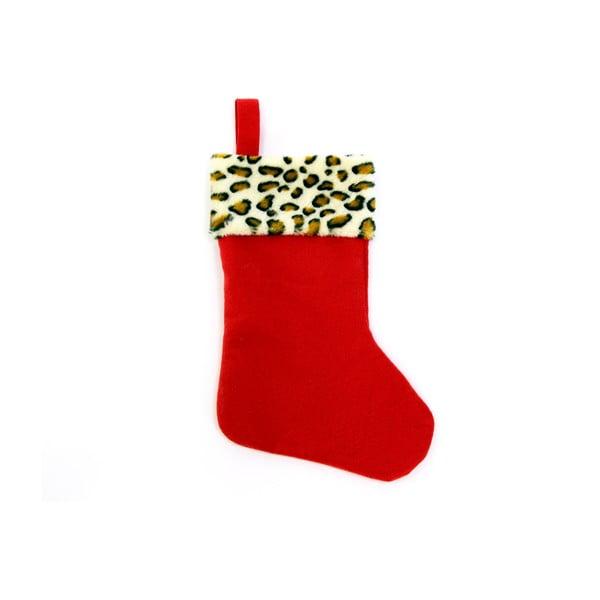 Piros, zokni alakú karácsonyi dekoráció - Unimasa