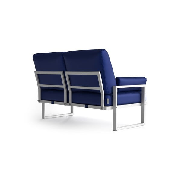 Královsky modrá 2místná zahradní pohovka s područkami a světlými nohami Marie Claire Home Angie