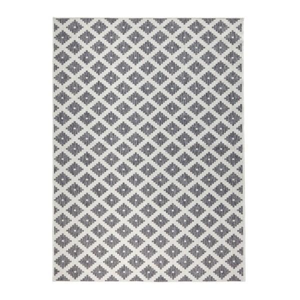Covor reversibil adecvat interior/exterior Bougari Nizza, 120 x 170 cm, gri-crem