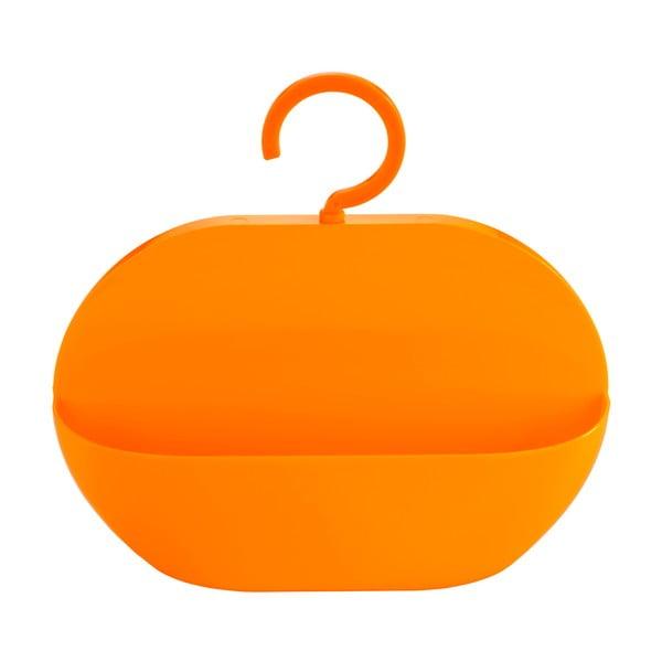 Oranžová úložná závěsná kapsa do sprchy Wenko Cocktail