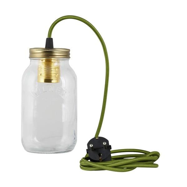 Svítidlo JamJar Lights, zelený kulatý kabel