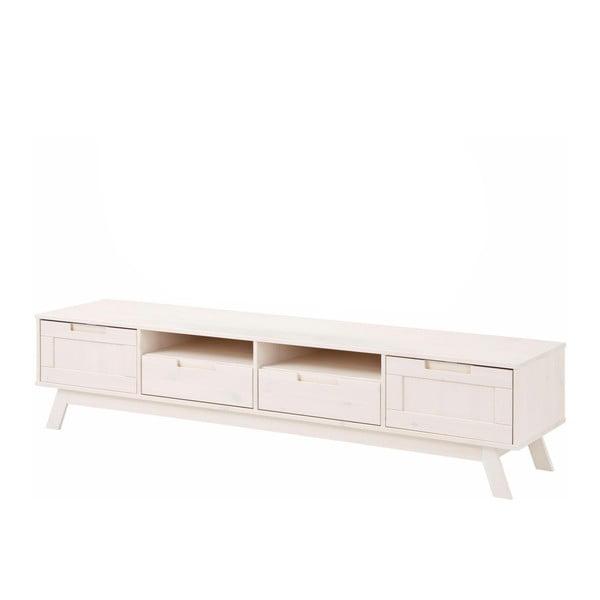 Nízká bílá dřevěná skříňka Støraa Ollie
