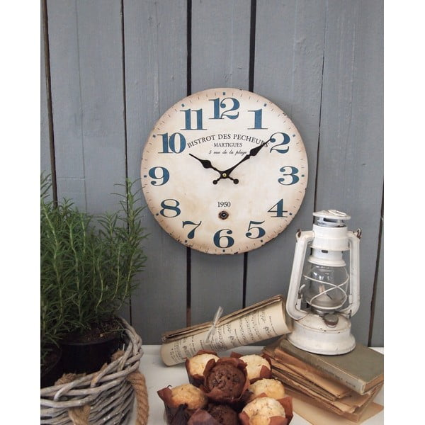 Nástěnné hodiny Bistrot, 34 cm