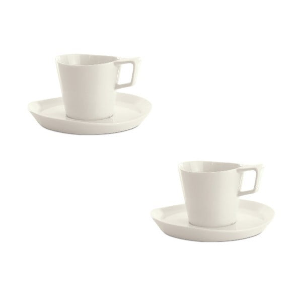 Sada 2 šálků s podšálkem Eclipse Tea, 240 ml