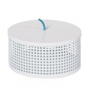 Bílý úložný box OK Design Boite, Ø20cm