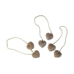Závěsná ozdoba Antic Line Hearts Ornament