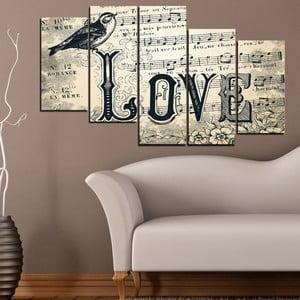 5dílný obraz Láska