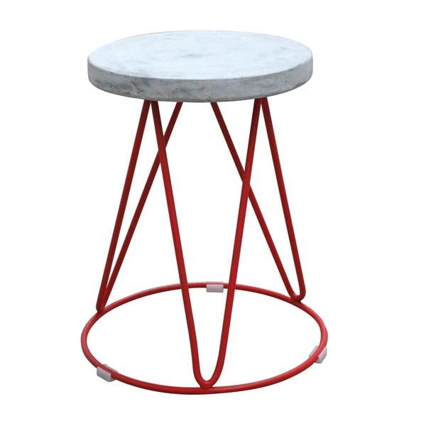 Odkládací stolek s červenou podnoží Red Cartel District