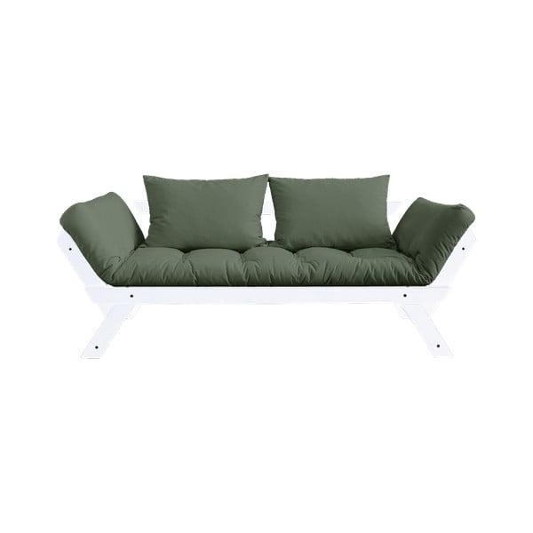 Canapea extensibilă Karup Design Bebop White, verde