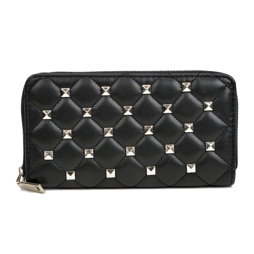 Černá kožená peněženka Isabella Rhea Emanuele