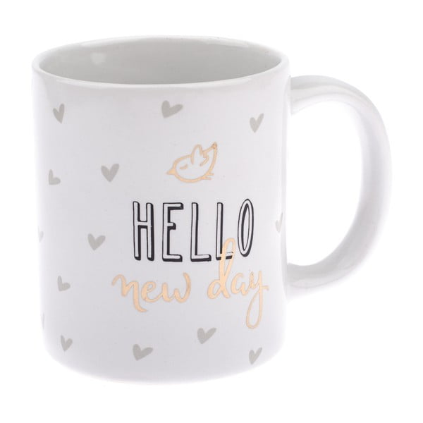 Porcelánový hrnek Dakls Hello New Day, 320 ml