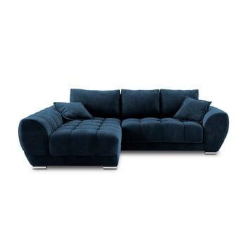 Canapea extensibilă cu înveliș de catifea Windsor & Co Sofas Nuage, pe partea stângă, albastru de la Windsor & Co Sofas