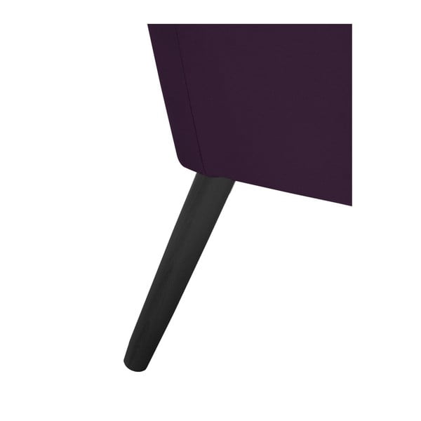 Fialové křeslo s černými nohami Max Winzer Alegro