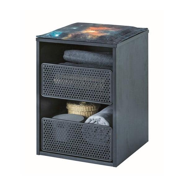 Černá skříňka Dark Metal Caisson